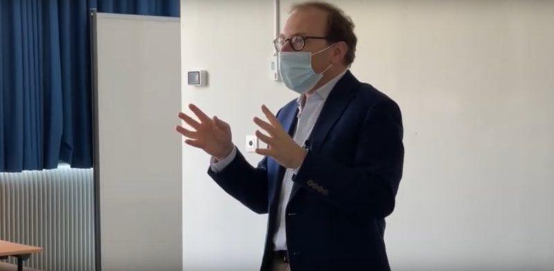 Masterclass Grand oral du Bac avec Bertrand Périer au Lycée Albert Schweitzer, mars 2021